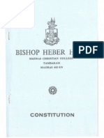 Constitution of the Bishop Heber Hall, Madras Christian College