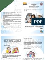 Fasciculo Importancia de la comunicación con nuestros hijos