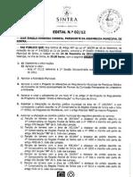 Ordem do Dia da Assembleia Municipal de 23 de Fevereiro