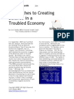 Approaches To Creating Balance in a Troubled Economy
