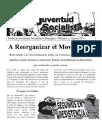 A Reorganizar El Movimiento #1 agosto 2011