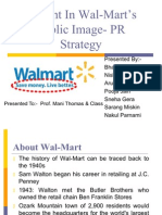 A Dent In Wall Mart's Public Image- PR