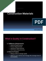 Work Shop - Construction Materials Quality Control
