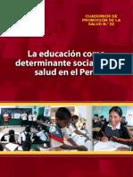 La Educacion Como Deter Min Ante de La Salud