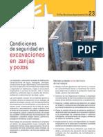 Condiciones de Seguridad en Excavaciones en Zanjas y Pozos