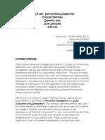 Instructional Leadership - EDLP 380 Z1 - Course Syllabus