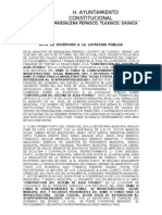 Acta de Excepcion a La Licitacion Publica Correguida