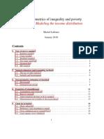 The econometrics of inequality and poverty