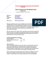 D2:Int'l Politics Middle East - POLS 157 OL1 - Course Syllabus