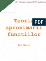 1_pdfsam_Curs - Teoria Aproximarii Functiilor