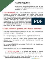 Aula Taxas de Juros a Cap Composta