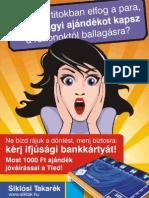 Siklósi Takarék plakát. Referencia
