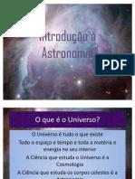 Introdução à Astronomia e Cosmologia