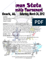 Pokemon State Championship 2012 Flyer