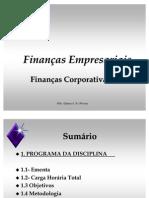Aula 1 Finanças Empresarais II