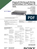 Sony Hcd Dz260 Dz270 Hdz278