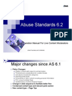 Abuse Standards 6.2 - Operation Manual