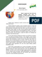 convocacao RCC - Missao Alagoas