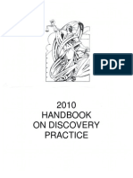 2010 Handbook on Discovery Practice