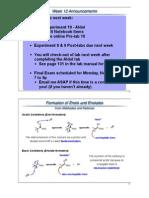 Chem 233 Aldol Lecture 12