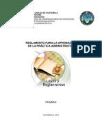 REGLAMENTO DE PR+üCTICA ADMINISTRATIVA 2012