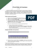 MicroSoft Word Editor de Ecuaciones