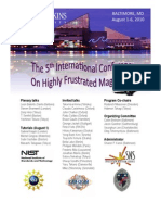 The 5th International Conference on Highly Frustrated Magnetism