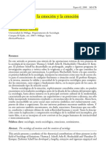 La sociología de la emoción y la emoción