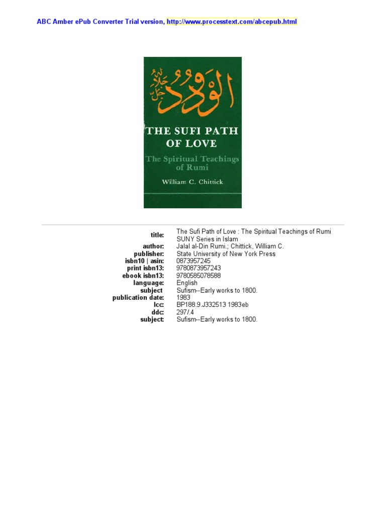The sufi path of love the spiritual teachings of rumi by w c the sufi path of love the spiritual teachings of rumi by w c chittick rumi sufism fandeluxe Image collections