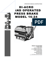 16-24 Press Brake Manual