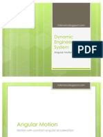 Dynamic Engineering System - Angular Motion