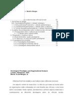 Paradigmas sociológicos e Analise Organizacional - Burrel e Morgan
