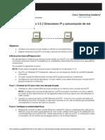 Practica Lab Oratorio 3.5.2 Direccionamiento Ip