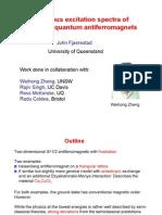 John Fjaerestad- Anomalous excitation spectra of frustrated quantum antiferromagnets