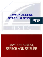 Laws on Arrest Search & Seizure