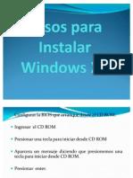 Pasos Para Instalar Windows XP