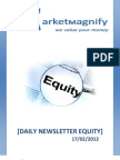 Daily Equity Report by Market Magnify 17-02-2012