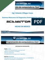 presentation Scanator curso programación OPEL