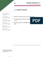 Budget FY11 – Balanced words need balancing act