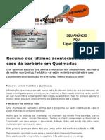 Resumo dos últimos acontecimentos no caso da barbárie em Queimadas