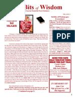 February Tid Bits of Wisdom 2012 Press