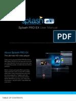 SplashPRO EX User Manual