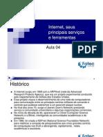 Internet, seus principais serviços e ferramentas