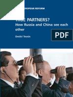 Dmitri Trenin on Russia's Policy Towards China