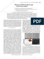 Dong Wu et al- High efficiency multilevel phase-type fractal zone plates