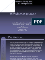Presentation on Xslt