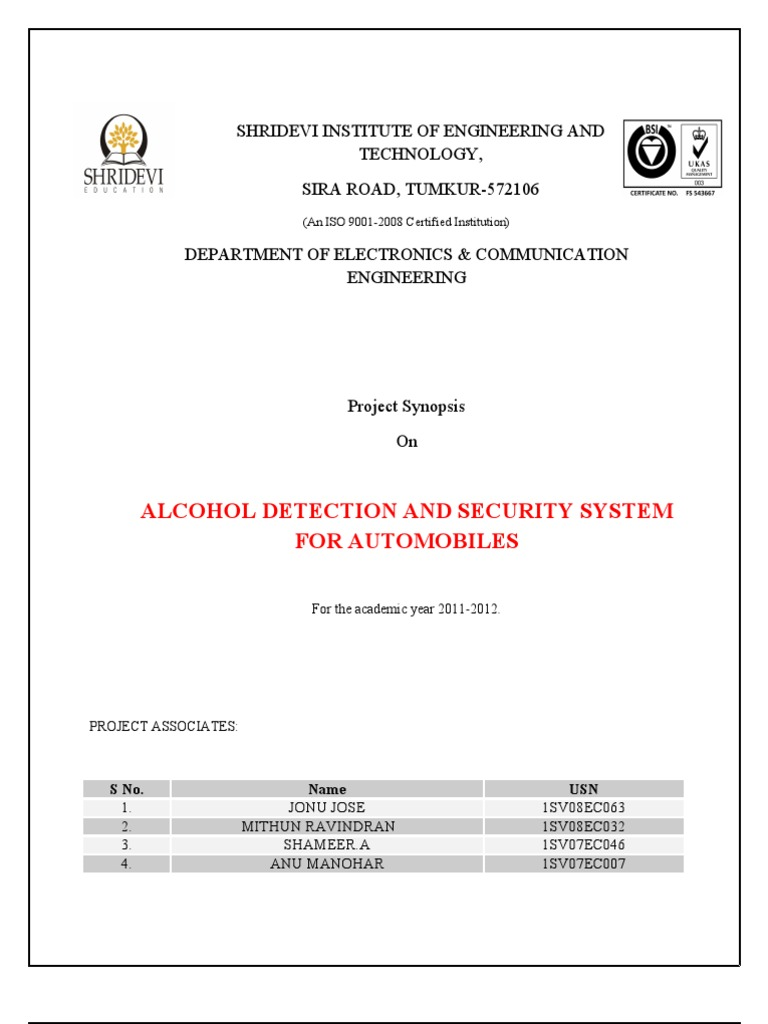 Alcohol Detection and Security System | Microcontroller