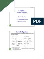 (2) Vector Analysis