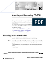 Mounting and Unmounting CD-ROM