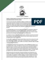 CONTRA LA DEMOLICIÓN DE LA ESCUELA DE LAS 3.000 RUEDAS